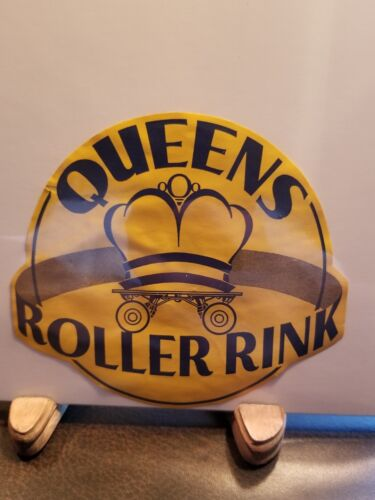 Vintage 1930-1950 Era Decal Queens New York Roller Rink - $15.99