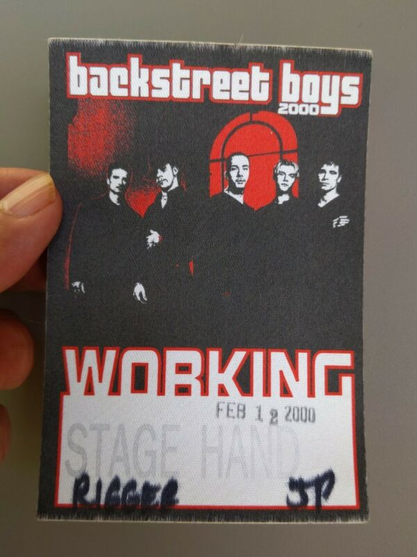 Backstreet Boys  2000 Tour Satin Working Crew Backstage Pass Stage Hand concert