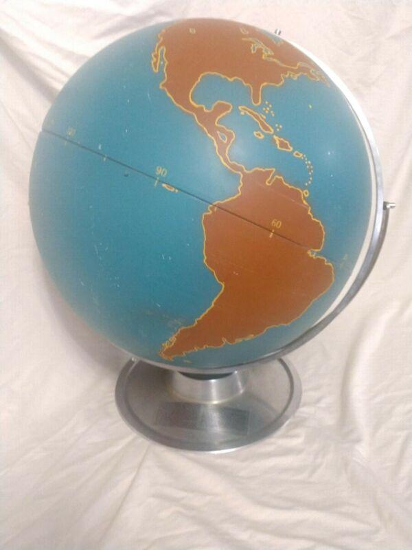 vintage world globe by AJ Nystrom