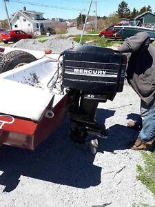 50 hp mercury for parts or repair