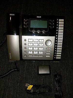 Rca Visys 25424re1 4-line Expandable System Phone With Cords Tested Caller Id