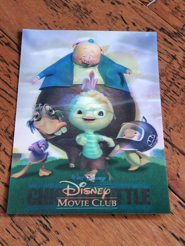 Disney Movie Club 3D Lenticular Card Chicken Little RARE collector