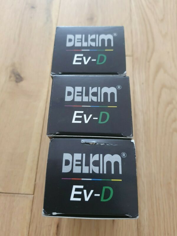 3 x Delkim EV-D bite alarms green leds with cases new unused carp tackle