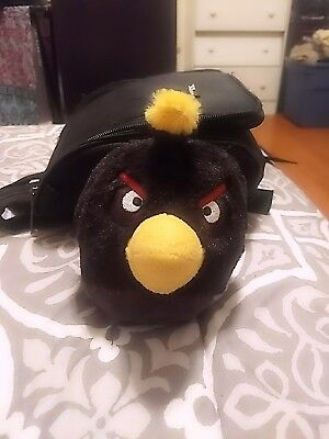 "6"" Angry Birds, Black Bird, Plush Toy, Doll, Stuffed Animal"