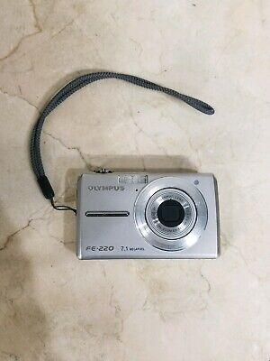 Olympus FE-220 7.1 MP Digital Camera - Silver Tested (Olympus Fe)