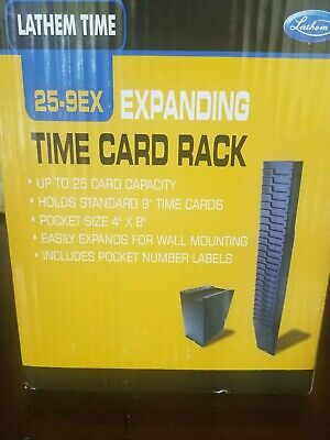 Lathem Time 25-9ex Expanding Time Card Rack 25 Pockets W Numbers For 9 Cards