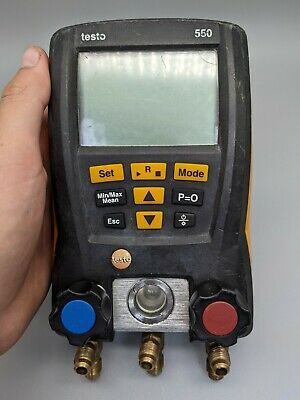Testo 550 Digital Manifold With Bluetooth 3 Hoses - Tested Good Cond.