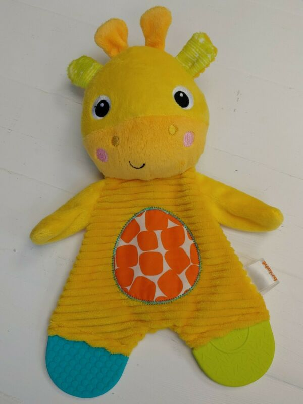 Bright Starts Teether Giraffe Baby Sensory Security Blanket Yellow