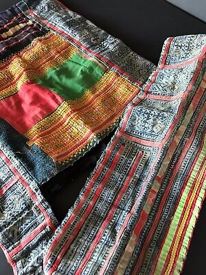 Old Laos Handmade Tribal Shoulder Bag  …beautiful collection / accent piece (b)