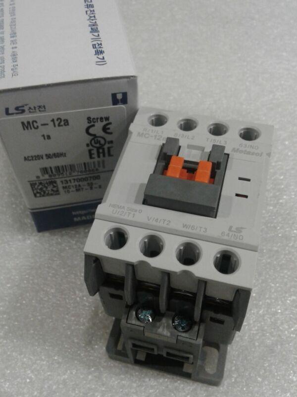 MC-012a/3-220 LS METASOL CONTACTOR 12a/25a 3POLE SCREW 1A UL AC 220V 50/60HZ NEW