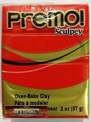 M00543 MOREZMORE Premo! Sculpey CADMIUM RED HUE 2oz Sculpting Polymer Clay A60