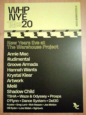 Warehouse Project NYE 2019 2020 Large Flyer Annie Mac Rudimental Groove (Warehouse Nye)