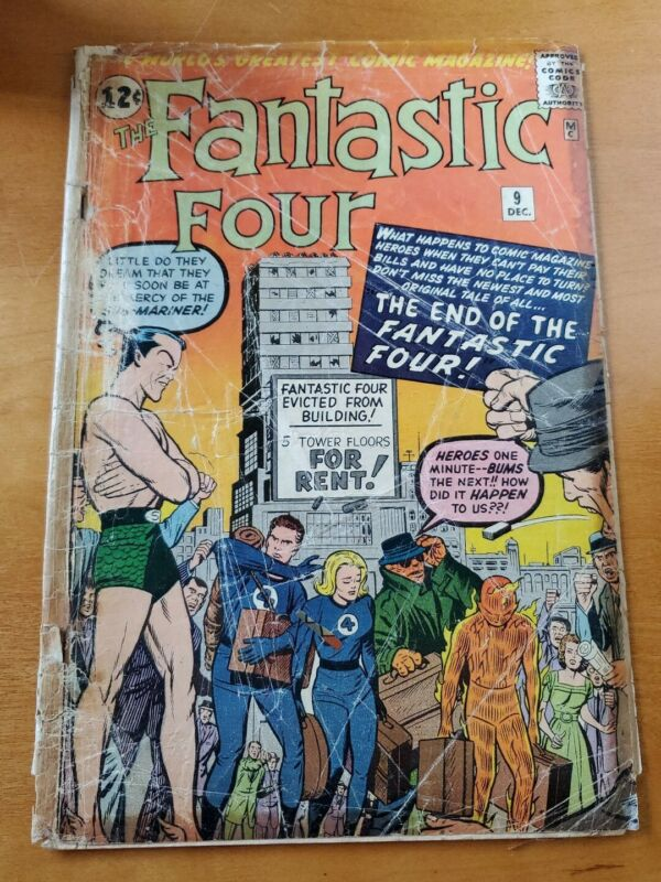 FANTASTIC FOUR #9 - Third Silver Age Sub-Mariner appearance!  Kirby