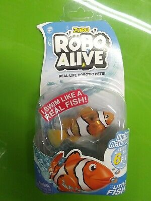 Little Clown Fish Robo Alive Water Activated Pet NEW Zuru