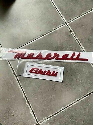 2 PCS Maserati Ghibli Rear Lid Rear Plastic Red Letters Logo Badge