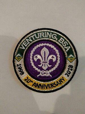 Venturing, BSA Anniversary 1998 - 2018 RING & World Crest -  20 Year V Ring
