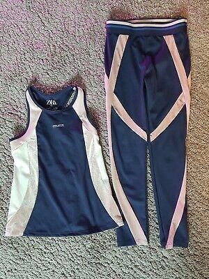 Zara Girl Sport Outfit Gr.128 ca 7 Jahre - Outfit Für Mädchen