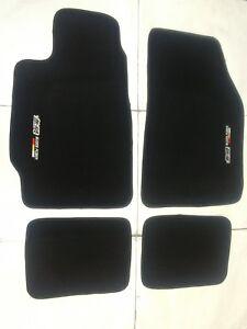 Fit 88-91 Honda Civic / CRX EC ED EF Black Floor Mats Carpet W/Emblem mu