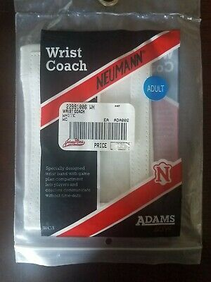 Football Wrist Coach Plastic View Window Adult White Adams USA Neumann WC3