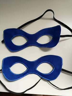 Adult Blue Superhero Mask ~ HALLOWEEN COSTUME PARTY ACCESSORY EYE MASK - Blue Superhero Costume