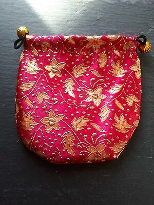 Brand new high quality red flowery hand bag coin purse! Perfect handbag gift!