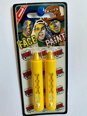 2 Pack YELLOW Team Color Face Paint Crayon Sticks Halloween Makeup GOLD](2 Faces Halloween Makeup)