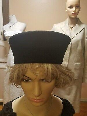 Vintage Bollman black salior look hat doeskin felt 100%wool made in USA](Salior Hat)