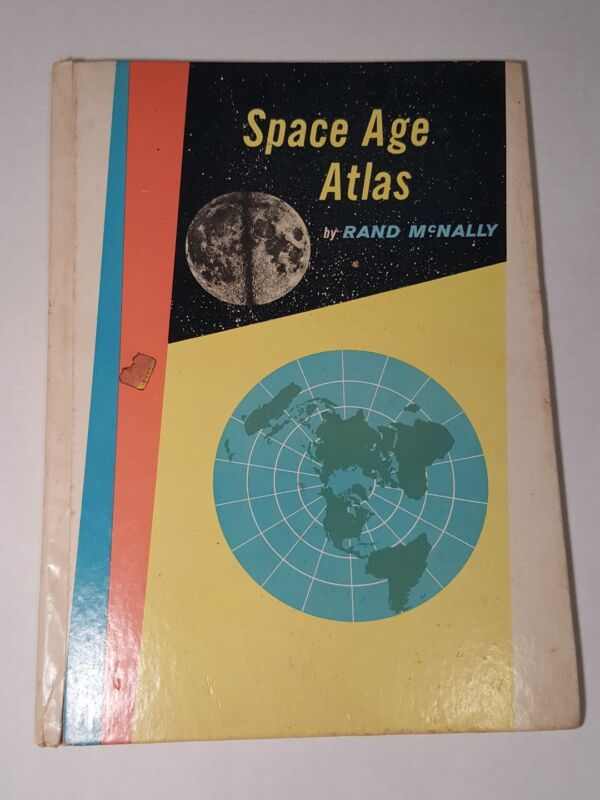 McNally Space Age Atlas 1960 Edition + Cosmopolitan World Map Learning Science