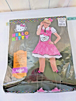 Hello Kitty Sexy Pink Costume Dress Only  Juniors MEDIUM 7-9 Halloween Cosplay Sexy Pink Kitty