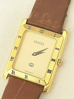 GUCCI 4200M Quartz Analog Leather 4200M vintage Unisex Watch