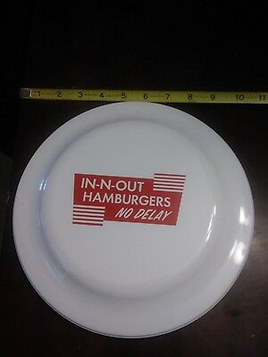 in n out burger frisbee red and white