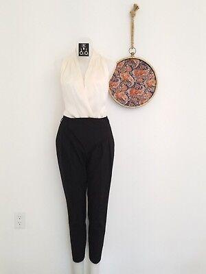 ZARA BASICS Women's Trousers + C'EST SILK 100% Silk Top + I.N.C Halo Earrings for sale  Kingston