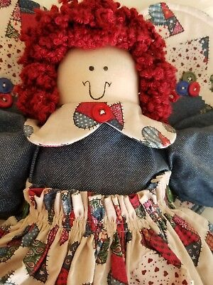 "HOMEADE, RAGGEDY ANN,  ANGEL, COUNTRY STYLE, GOOD CONDITION, 22"" TALL"