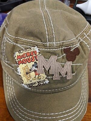 Mickey Mouse Army Style Rugged Look Baseball Cap