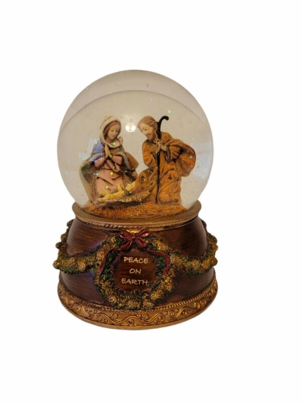 Fontanini Glitter Dome Musical Snow Globe The First Noel with Box
