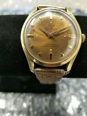 Antique Waltham Self Winding Shock Resistant Men's Gold Tone Watch 17J Jewels