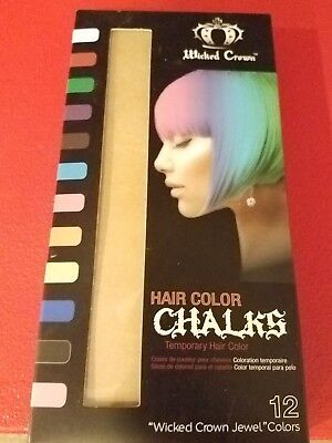 Wicked Crown Temporary Hair Color Chalk 12 Colors - Costume - Costume Hair Color