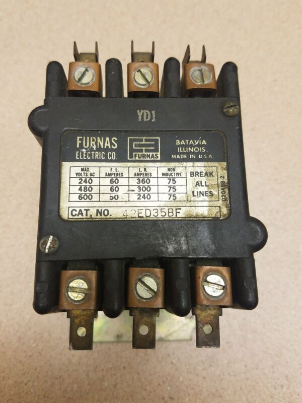 Furnas 42ED35BFDefinite Purpose Magnetic Contactor 60AMPS