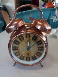 Insa Yugoslavia Copper Alarm Clock Vintage