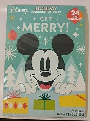 Disney Mickey Mouse Chocolate Christmas Holiday Countdown Advent Calendar Minnie