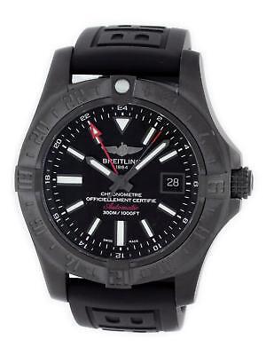 Breitling Avenger II GMT M32390 Auto Blacksteel Rubber Strap Watch M3239010/BF04