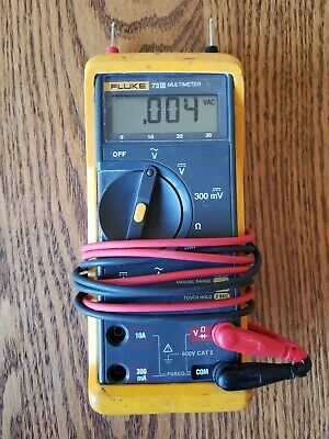Fluke 73 Iii Digital Multimeter With Probes --excellent Condition