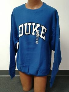 Duke University Blue Devils Sewn Sweatshirt Steve and Barrys NWT S- 2XL Vintage