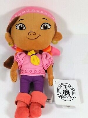 NWT Disney Izzy Pirate Girl Plush Doll Jake And The Neverland Pirates Authentic  - Disney Izzy