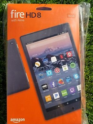 Amazon Kindle Fire HD 8 Tablet 16 GB w/Alexa LATEST 2017Free SHIPPING