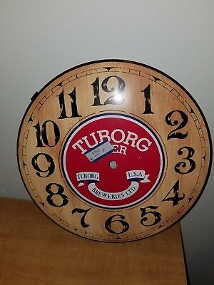 1973 Tuborg Brewing Company Tuborg Lager Beer Pocket Watch Shaped Clock Bar Sign