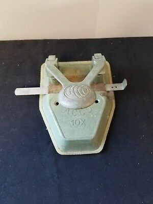 Vintage Acco Green 2 Hole Paper Punch 10x Guide Stop Catch Tray New York