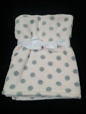 PERSONALIZED Polka Dot Minky Pink Baby Blanket BABY SHOWER GIFT