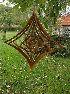windspiel Garten Raute Edelrost 30cm