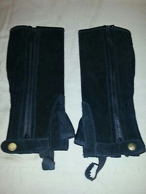 Perri's Black Suede Half Chaps Childs Large